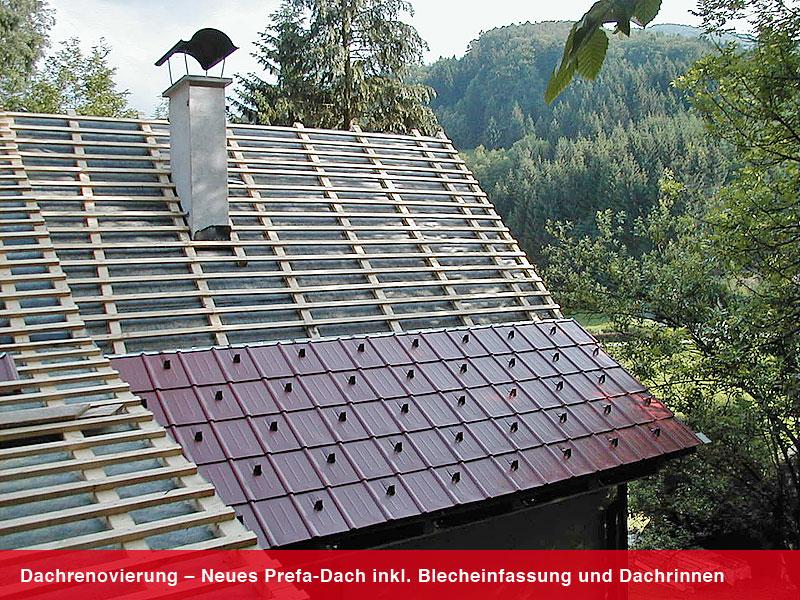 dachrenovierung prefa dach wien ing alexander. Black Bedroom Furniture Sets. Home Design Ideas