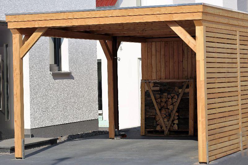 Carport und Terrassenüberdachung als Holzkonstruktion