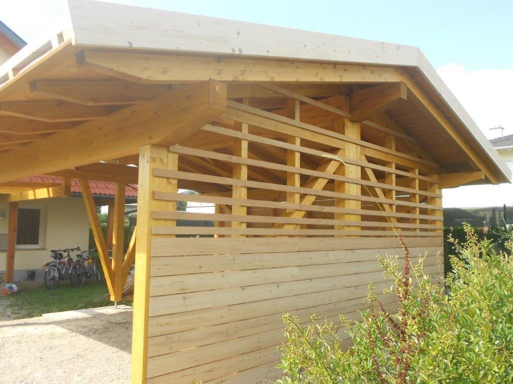 Holz-Carport: Dachform und Dacheindeckung